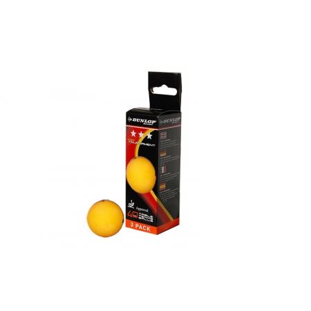 Шарики для настольного тенниса (3шт) DUNLOP 679157 3star FORT TOURNAMENT (пластик, d-40мм,оранжевые)