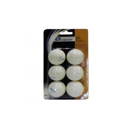 Шарики для настольного тенниса (6шт) DONIC MT-618080 DSK JADE (пластик, d-40мм, белые)