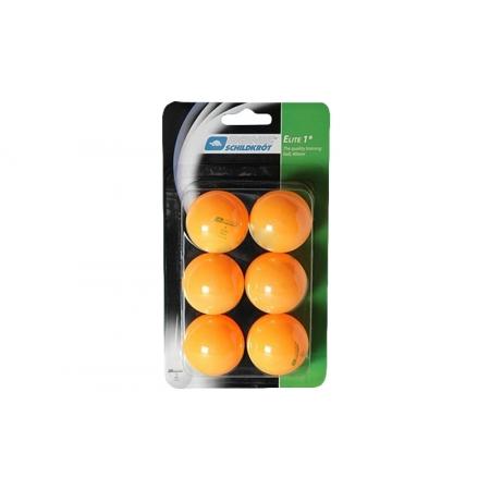 Шарики для настольного тенниса (6шт) DONIC MT-658018 ELITE 1star (пластик, d-40мм, оранжевые)