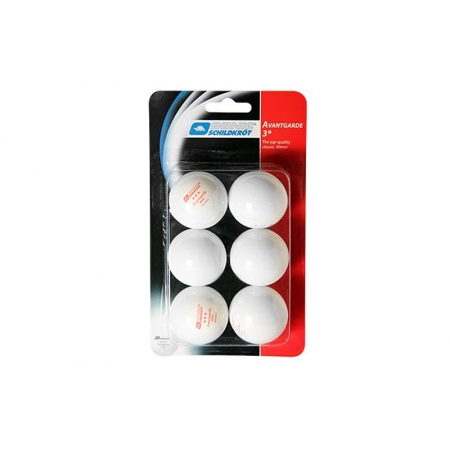 Шарики для настольного тенниса (6шт) DONIC MT-658031 AVANTGARDE 3star (пластик, d-40мм, белые)