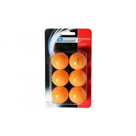 Шарики для настольного тенниса (6шт) DONIC MT-658038 AVANTGARDE 3star (пластик, d-40мм, оранжевые)