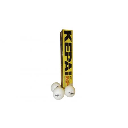Шарики для настольного тенниса (6шт) KEPAI PP-1106 2star (пластик, d-40мм, белые)