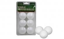Шарики для настольного тенниса (6шт) LEGEND SPORT MT-4506-W (пластик, d-40мм, белые)