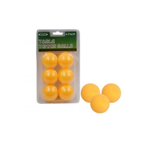 Шарики для настольного тенниса (6шт) LEGEND SPORT MT-4506-Y (пластик, d-40мм, оранжевые)