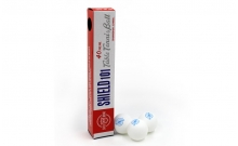 Шарики для настольного тенниса (6шт) SHIELD 101 G1801 (пластик, d-40мм, белые)