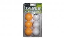 Шарики для настольного тенниса (6шт) SPORT MT-2068 (пластик, d-40мм, белые, оранжевые)