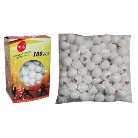 Шарики для настольного тенниса в цвет.картон.коробке (100шт) PRO-513 (пластик, d-40мм, белые,желтые)