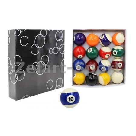 Шары для бильярда KS-1057 (d-57,2мм, в компл. 16 шаров, цветные)
