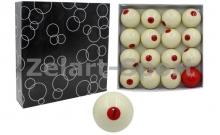 Шары для бильярда KS-1068 (d-68мм, в компл. 16 шаров, белые)