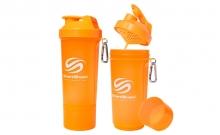 Шейкер 2-х камерный для спортивного питания SMART SHAKER SLIM FI-5054-OR (400+100мл, оранжевый)