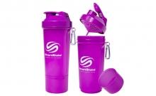 Шейкер 2-х камерный для спортивного питания SMART SHAKER SLIM FI-5054-V (400+100мл, фиолетовый)