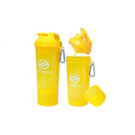 Шейкер 2-х камерный для спортивного питания SMART SHAKER SLIM FI-5054-Y (400+100мл, желтый)