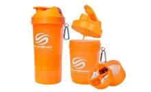 Шейкер 3-х камерный для спортивного питания SMART SHAKER ORIGINAL FI-5053-OR (400+100+100мл, оранж)
