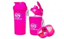 Шейкер 3-х камерный для спортивного питания SMART SHAKER ORIGINAL FI-5053-P (400+100+100мл, розовый)