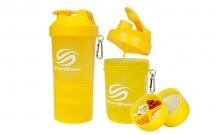 Шейкер 3-х камерный для спортивного питания SMART SHAKER ORIGINAL FI-5053-Y (400+100+100мл, желтый)