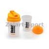 Шейкер для спортивного питания FI-5056 (TS1255) (пластик, 500мл, прозрачный-оранжевый)