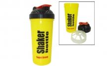 Шейкер с сеточкой для спортивного питания FI-4444 (TS1314) (пластик, 700мл, желтый-черный)