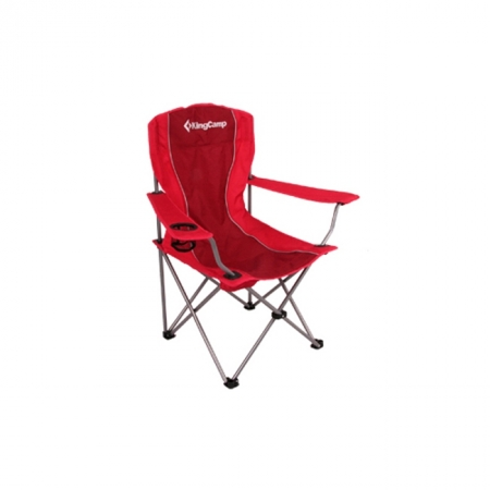 Шезлонг KingCamp Arms Chairin Steel (KC3818) Red