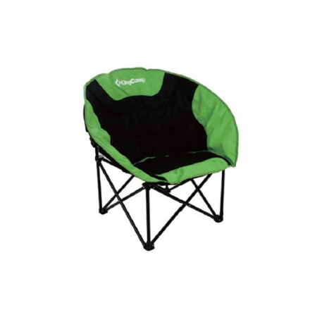 Шезлонг KingCamp Moon Leisure Chair (KC3816) Black/Green
