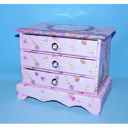 Шкатулка детская Комод с ящиками, 15 x 17.5 x 11.8 см (BT-C-027)
