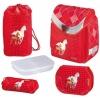 Школьный ранец Flexi Plus Dinky Horses с наполнением (5 предметов), Herlitz 11160769