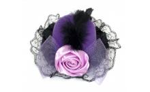 Шляпка Гламур с розой и пером