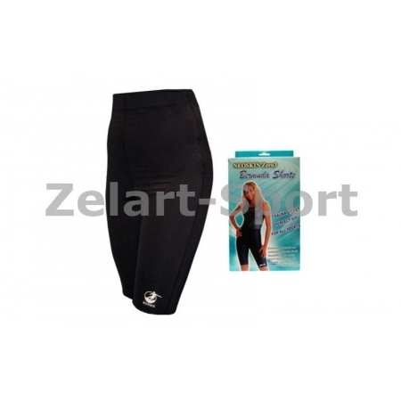 Шорты для похудения ZD-3043-L BERMUDA NEOSKIN zero 3 (3 слоя: neoskin, изопрен.рез, стрейч, черный)