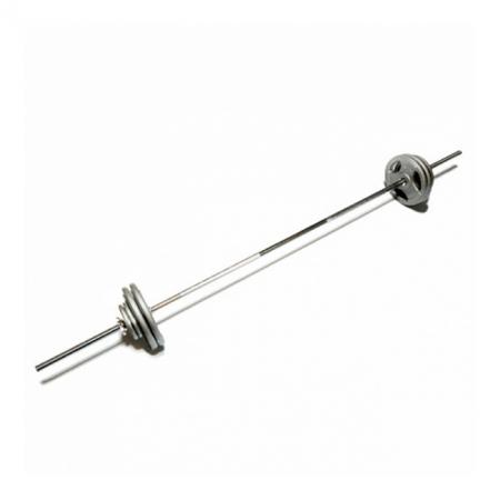 Штанга наборная с крашенными дисками FitLogic Home Hammer bar 35 kg, DB10-35