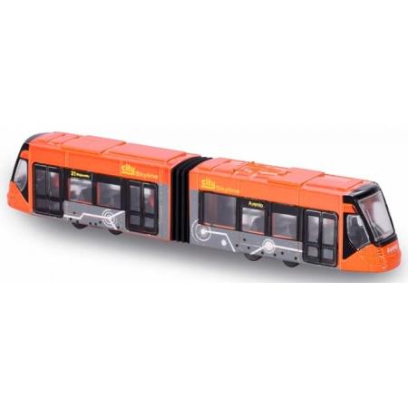 Siemens Avio Tram (оранжевый), городской транспорт, 20 см, Majorette, 205 3303-5