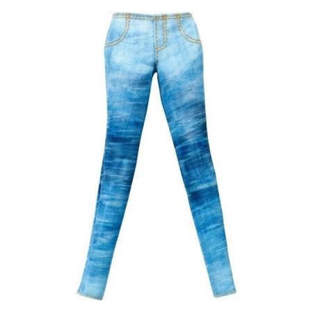 Синие джинсы для Барби, Стильные комбинации, Barbie, Mattel, синие джинсы, CFX73-1