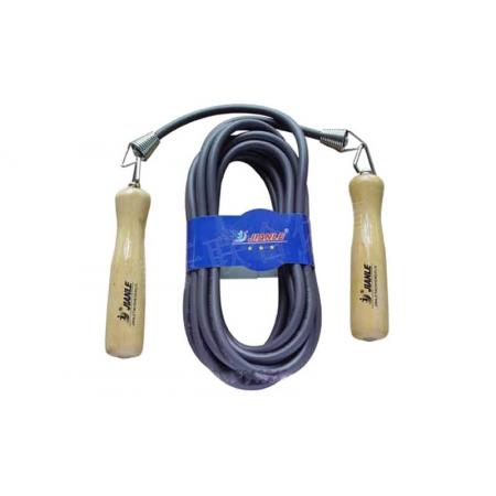 Скакалка для прыжков нескольких человек l-7м (Скиппинг) с PVC жгутом KEPAI 9901-7 (d-6мм, дер.ручки)