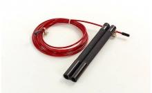 Скакалка профессиональная со стальным тросом скоростная с подшип. FI-5345-2 (l-3м, d-2,6мм, красный)