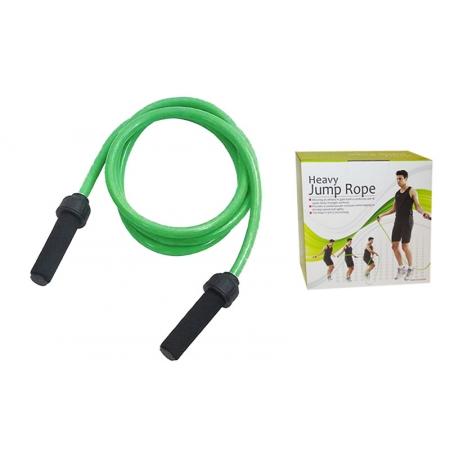 Скакалка с утяжеленным PVC жгутом (вес 1000г) PS FI-4803 POWER (l-2,7м, d-17мм, зеленый)