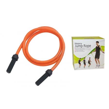 Скакалка с утяжеленным PVC жгутом (вес 1500г) PS FI-4804 POWER (l-2,7м, d-22мм, оранжевый)