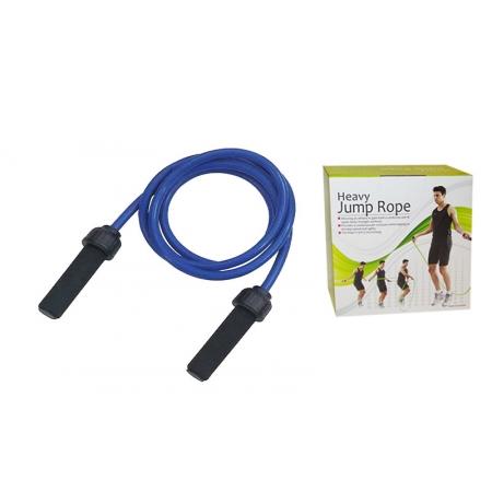 Скакалка с утяжеленным PVC жгутом (вес 700г) PS FI-4802 POWER (l-2,7м, d-14мм, синий)