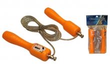 Скакалка со счетчиком и стальным тросом FI-4385 (l-2,7м, d-4,8мм)