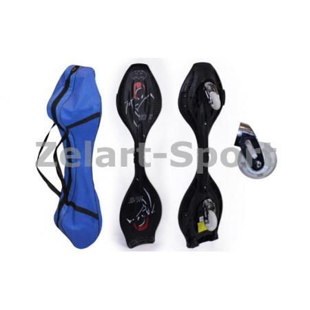 Скейтборд 2-х колесный RipStik (роллерсерф) BATMAN SK-1150 (ABS,PU-свет, р-р деки79х23х2см, 6902Z)