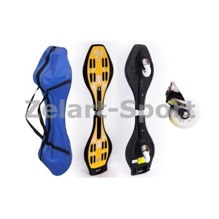 Скейтборд 2-х колесный RipStik (роллерсерф) SK-02 (алюмин, PU-светящ., р-р деки 87х23х2см, 6902Z)