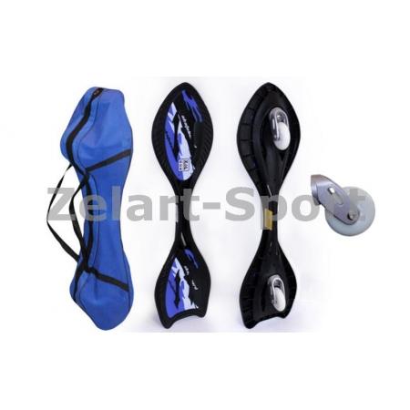 Скейтборд 2-х колесный RipStik (роллерсерф) SK-22A (ABS, PU светящ., р-р деки 82х21х2см, 6902Z)