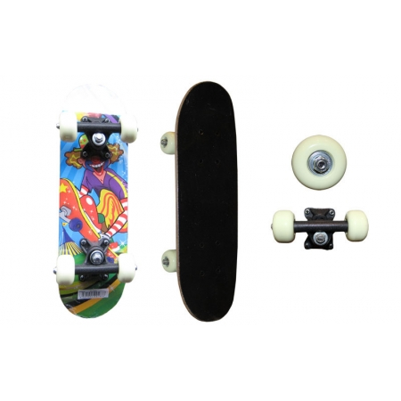 Скейтборд Mini в сборе (роликовая доска) SK-1705PP (колесо-PVC, р-р деки 43х13см, 608Z, пласт. подв)