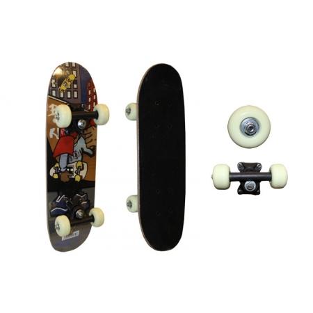 Скейтборд Mini в сборе (роликовая доска) SK-2006AA (колесо-PVC, р-р деки 51х15см, 608Z,пласт. подв)