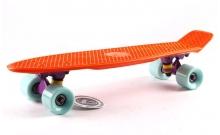 Скейтборд пластиковый Penny Original FISH 22in однотонная дека SK-401-35 (оранжевый-фиолет-мятный)