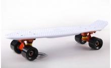 Скейтборд пластиковый Penny Original FISH 22in однотонная дека SK-401-37 (белый-оранжевый-черный)
