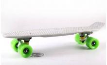 Скейтборд пластиковый Penny Original FISH 22in однотонная дека SK-401-38 (серый-белый-салатовый)