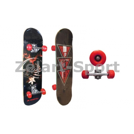 Скейтборд в сборе (роликовая доска) KEPAI SK-2061A (колесо-PU, р-р деки 78х20х1см, АВЕС-5)