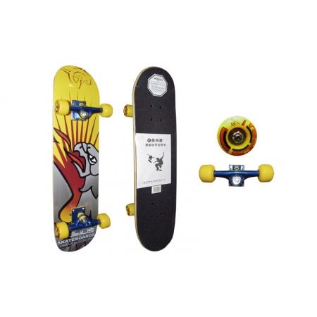 Скейтборд в сборе (роликовая доска) RADIUS RAD-110B (колесо-PU, р-р деки 76х18,5х1,1см, АВЕС-5)