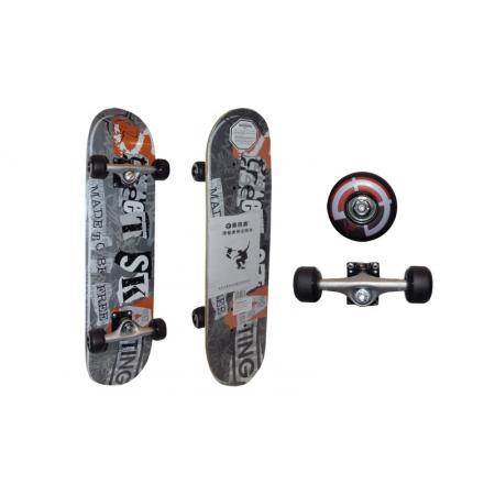 Скейтборд в сборе (роликовая доска) RADIUS RAD-211A (колесо-PU, р-р деки 76х18,5х1,1см, АВЕС-7)