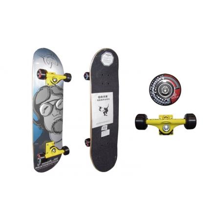 Скейтборд в сборе (роликовая доска) RADIUS RAD-310A (колесо-PU, р-р деки 78,5х19х1см, АВЕС-5)