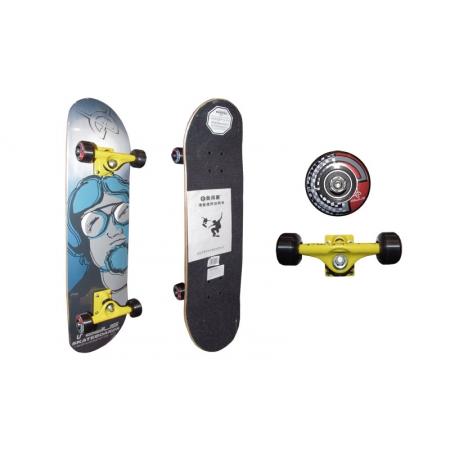 Скейтборд в сборе (роликовая доска) RADIUS RAD-310B (колесо-PU, р-р деки 78,5х19х1см, АВЕС-5)