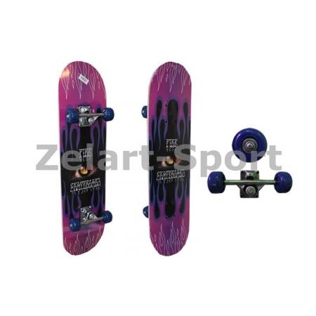 Скейтборд в сборе (роликовая доска) SK-116 (колесо-PVC, р-р деки 78х20х1,2см, 608Z)